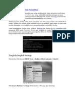 Backup Dan Restore OS Ala Norton Ghost
