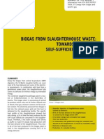 Biogas From Slaughterhouse Waste
