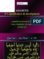 """AHADITH - It's significance & development"""