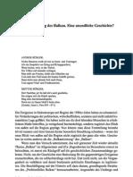 Taras Balkanisierung Balkan