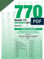 Ettore Colella Istruzioni 770/2012 Ordinario