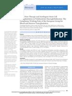 Terapia de alta dose e transplante autólogo de células-tronco na Macroglobulinemia de Waldenström