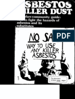 Asbestos - Killer Dust - Worker-community Guide - How to Fight Hazards of Asbestos and Its Substitutes(1)
