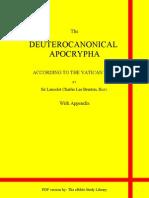 Deuterocanonical Apocrypha With Appendix