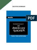 MetLife Teacher Survey Exec Summary[1]