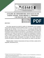 ANÁLISE DE DESEMPENHO DOS BANCOS DE DADOS MYSQL, POSTGRESQL E FIREBIRD