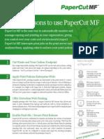 PaperCutMF Top 10 Reasons