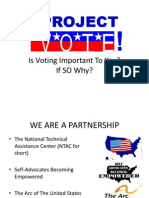 Project VOTE Webinar with Autism NOW February 28, 2012