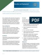 Education & Employment Initiative Fact Sheet