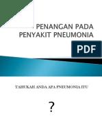 Penangan Pada Penyakit Pneumonia