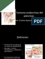 Tumores endocrinos del páncreas