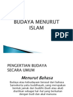 Budaya Dalam Islam