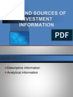 Type and Sources of Investment Information