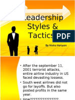 Leadership Styles & Tactics