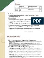 MGTS403 Syllabus