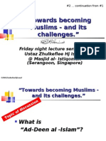 """Being Muslims & its challenges"" 2"