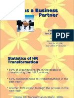 HR as Businesss Partner