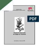 Manual de Equipo de Anestesia IMPRIMIR