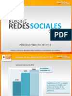 Reporte Redes Febrero 2012