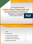 Reporte de estadísticas del Sitio Web del CEIEG Febrero 2012