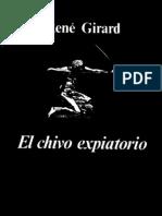 """René Girard, """"El chivo expiatorio"""""""
