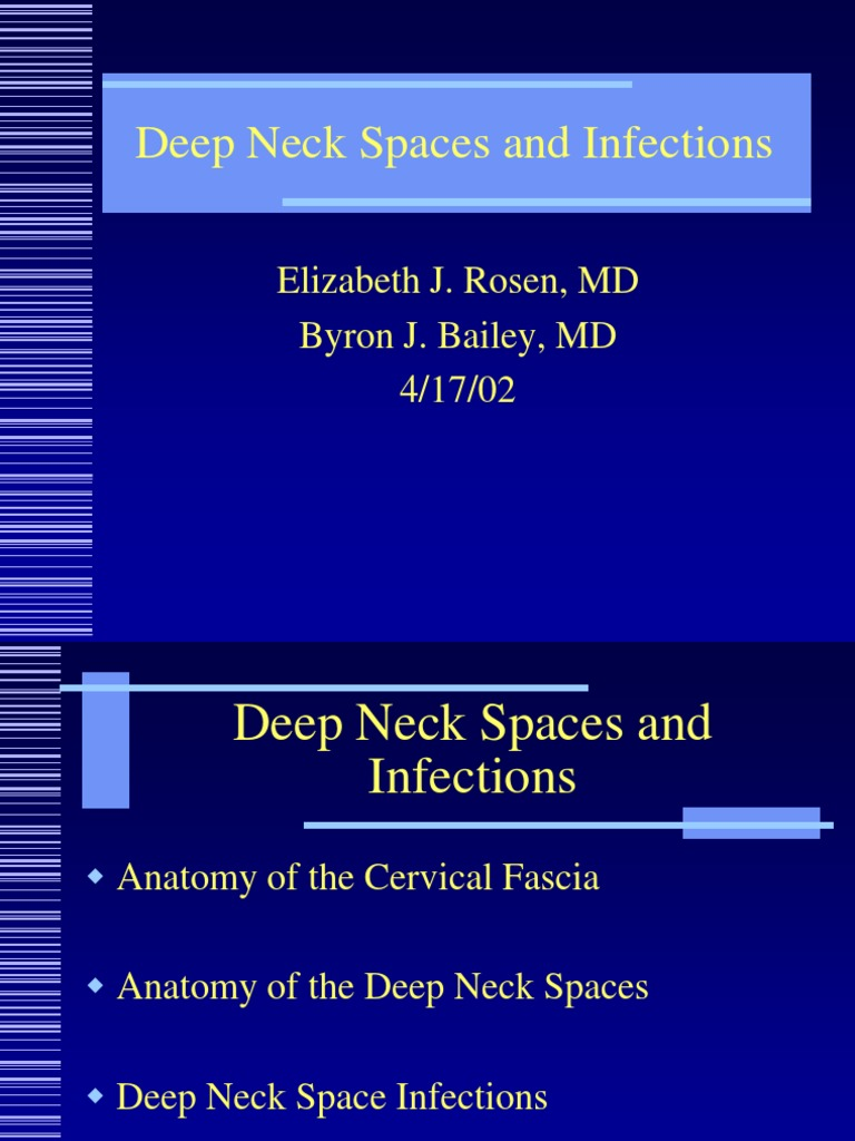 Deep Neck Spaces Infections Neck Common Carotid Artery