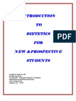 Introduction to Dietetics-Handbook
