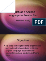 ESL in Puerto Rico - Research Study