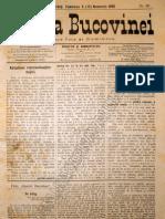 Gazeta Bucovinei #88, Duminica 5 (17) Noiembrie 1895