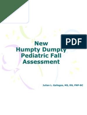 humpty dumpty pediatric fall assessment powerpoint | Patient