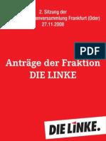 Anträge Fraktion DIE LINKE StVV 27.11.2008