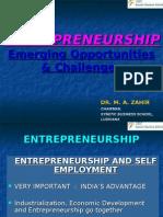 EnTREPRENEURSHIP-Emerging Opportunities & Challenges