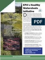 Epa Healthy Watersheds Initiative
