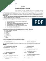 Test Paper Cls9