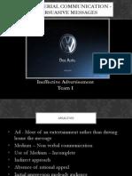 Persuasive Communication - Ineffective Advertisement