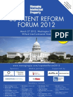 US Patent Forum 2012 Brochure