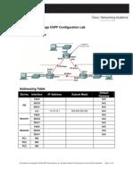 11.6.2 Challenge OSPF Configuration Lab