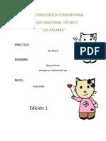 "Practicas de word ""Aula Tecnológica Comunitaria"