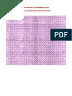 Evaluacion de Microsoft Excel