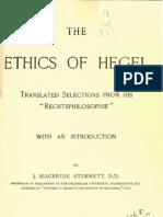 James MacBride Sterrett THE ETHICS OF HEGEL Boston London 1893