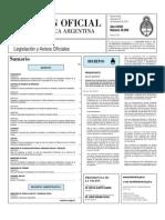 BOLETIN OFICIAL DECRETO 2054-2010