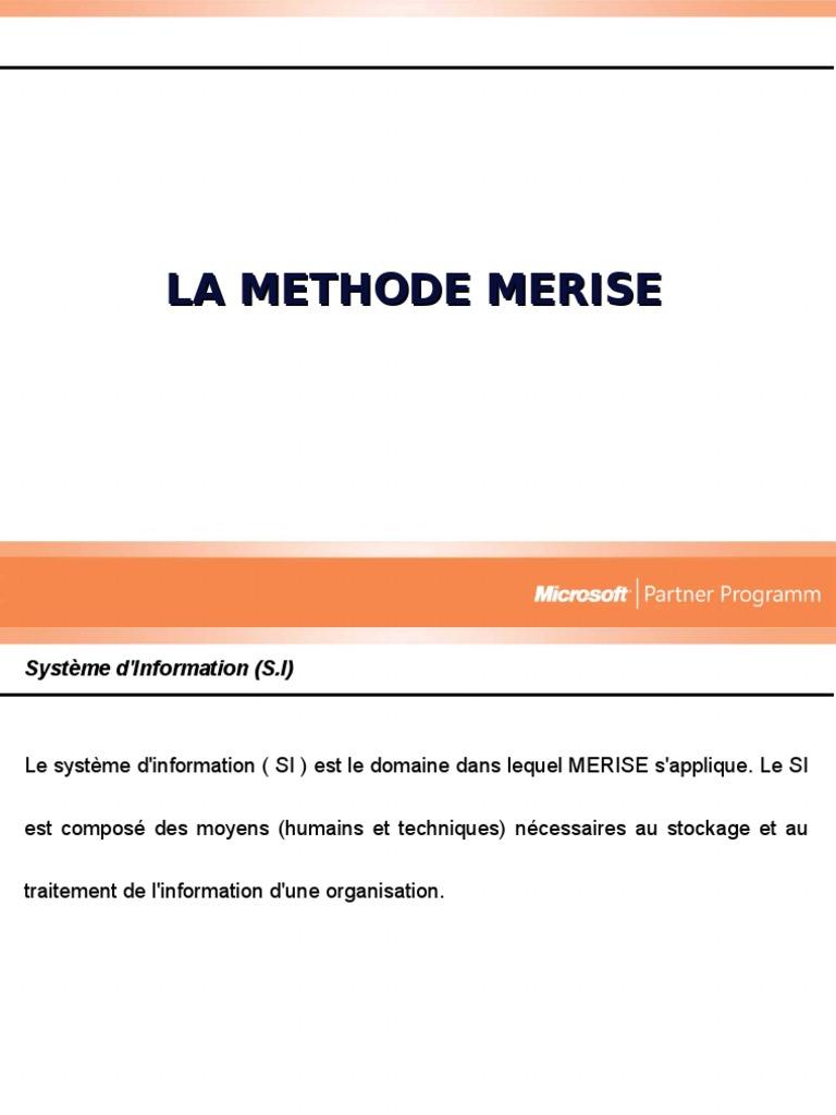 mct merise exercice corrige pdf
