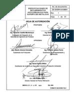 Dg-sasipa-si-08301 Especificacion de Recubrimientos Anticorrosivos Para Superficies Metalicas