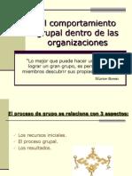 El Comport a Mien To Grupal Dentro de Las Organizaciones