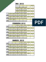 Turnos Medicos a.p. 2012