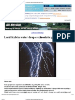 Print - Lord Kelvin Electrostatic Water Generator