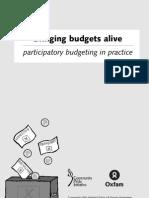 Bringing Budgets Alive - Participatory Budgeting