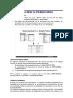 Obteniendo Datos de Multiples Tablas