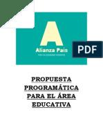 Propuesta Programática Para el Área Educativa  de Alianza País