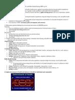 Community Exam 1 Objectives